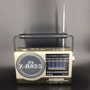 Radio Minianlage Radiospieler Mediaplayer Musikbox digital USB AUX FM AM SW TF