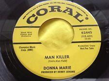 Scarce 1965 Teen Rocker 45 : Donna Marie ~ Man Killer ~ Coral 62445 Promo