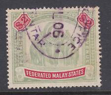 Malaya Sc 35 used. 1906 $2 Elephants and Howda definitive
