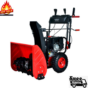 PowerSmart PSS2240-W 24 in. 212cc 2-Stage Electric Start Gas Snow Blower