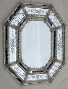 1950/70' Miroir Véronèse Octogonal Parecloses