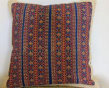 Beautiful Khaadi Handwoven Fabric Cushion with Blockprinted Floral design