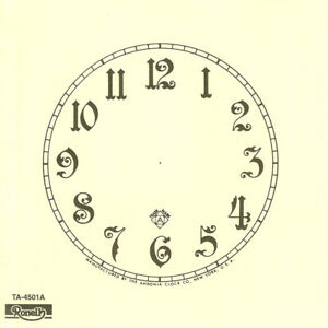 "Trademark Paper Clock Dials - 4.5"" to 11"" - Seth Thomas, Ansonia, Ingraham, etc!"