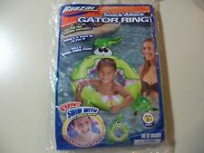 Banzai: 48 inch Inflatable Gator Swim Ring, Brand New & Sealed