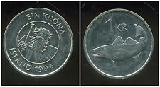 ISLANDE  1 krona  1994 ANM