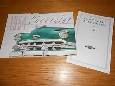 1954 CHEVROLET ORIGINAL BROCHURE plus ACCESSORIES CATALOG '54 CHEVY 2 For 1 Deal