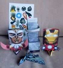 Marvel Avengers Assemble Cardboard Punch-Out Movie Scene Iron Man Falcon Lot (8)