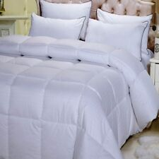 100% Cotton Dobby Striped White Down Altern. Comforter Ultra Warm Winter Weight
