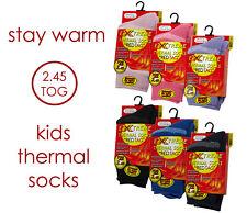 New Red Tag Childrens Striped 2.45 Tog Thermal Sock Boys Girls Warm School Socks
