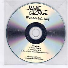 (GJ679) Jamie George, Wonderful Day - DJ CD