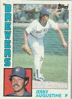 FREE SHIPPING-MINT-1984 Topps #658 Jerry Augustine Brewers PLUS BONUS CARDS