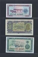 Albanie Lot de 3 billets différents  en état NEUF   Lot N° 1