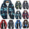 Mens Fall Winter Camo Windbreaker Hoodie Hooded Sweatshirt Jacket Coat Outwear