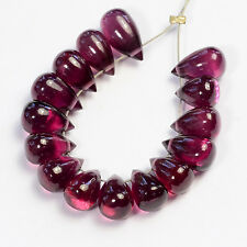 Gem Rhodolite Garnet Smooth Full Teardrop Briolette Beads (15)