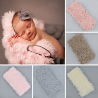 Soft Faux Fur Rug Mat Newborn Baby Photography Props Kids Blanket Basket Stuffer