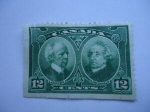 Canada KGV 1927 SG272 12c Green Imperf x perf Unused,no gum,thinned,damaged
