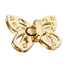 1x Women Butterfly Tone Handbag Purse Twist Turn Lock Snap Clasps Closure