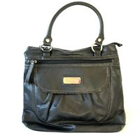 Relic Womens Black Pebbled Leather Shoulder Bag Purse Classic