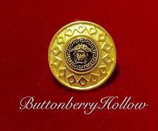 One Uncirculated Versace Medusa Head Antique Gold/Gold Tone Metal Button