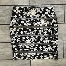 WHBM White House Black Market Women's Sz. 00 Floral Pencil Skirt Lace Fitted