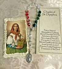 """ST. DYMPHNA CHAPLET"" CZECH CRYSTAL AB Beads,   ALZHEIMERS,  POWERFUL ""NEW"""