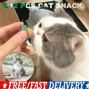 1-12 PCS Cat 'Kitty Chups' Healthy Cat Snacks Catnip Sugar Candy Snack Balls ng