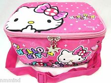 Girls Hello Kitty Pink Insulated Lunch Bag with Shoulder Strap (US SELLER)