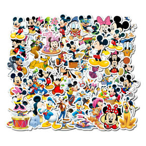 50 Mickey Minnie Mouse Donald Duck Stickers Cartoon Decal Stickerbomb Laptop UK