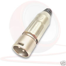 Switchcraft 3 Pole Male XLR Connector. AAA3M. Tough Steel Shell and Silver Pins
