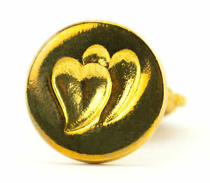Freund Mayer Genuine Brass Wax Seal Stamp Made in Italy Twin Hearts Design