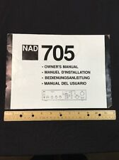 NAD 705 Stereo Receiver Original Owners Manual