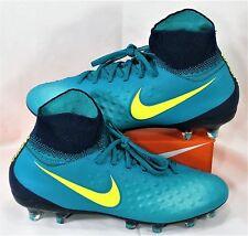 Nike JR Magista Obra II FG Rio Teal Volt Soccer Cleats Sz 5Y NEW 844410 375