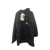 Carhartt Mens XL Long Sleeve Workwear Jacket Coat Black NWT