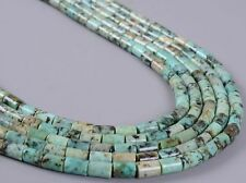 0230 6x4mm African turquoise tube loose gemstone beads 16""