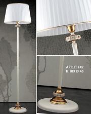 Piantana classica in ferro battuto bianco e porcellana 1 luce pre Lt 142