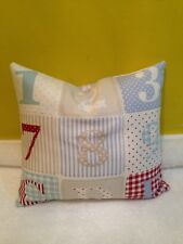 12x11 Blue Patchwork Alphabet Child's Cushion & Inner Pad, Fabric: Fryett's  NEW