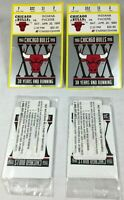 LOT OF 2 1996 Chicago Bulls Ticket Stub vs Pacers 72-10 Season w/ BONUS CARDS
