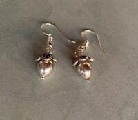 Brighton GLASS MOUNTAIN & Silver Beads Sparkle Custom Silver Earrings