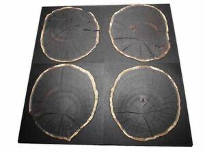 Eiche Baumscheibe rund Hirnholz schwarz CDF 500x500x20mm