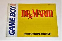 MANUAL ONLY Dr. Mario Original Nintendo Gameboy Instruction Booklet