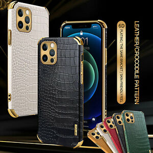 Luxury Crocodile Leather Case For iPhone 13 12 Pro Max 11 XS XR 8 7 6 SHOCKPROOF