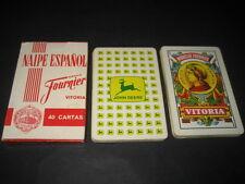 Baraja Española Fournier. Publicidad TRACTORES JOHN DEERE (Roja). Playing cards