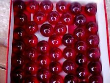 """500  CHAMPION 5/8"""" (+or -) RUBY RED  TRANSPARENT MARBLES $29.99"""