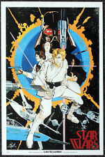 STAR WARS REPRO 1976 . ADVANCE RELEASE MOVIE POSTER BY HOWARD CHAYKIN . NOT DVD