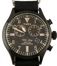 NEW TIMEX ARCHIVE WATERBURY ABT005 Chronograph Fabric Black Watch