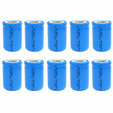 10 pcs 4/5 Sub C SC 1600mAh 1.2V Ni-Cd rechargeable Battery Cell Flat Top Blue