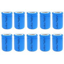 10 pcs 4/5 Sub C SC 1600mAh 1.2V Ni-Cd rechargeable Battery Cell Flat Top Blue