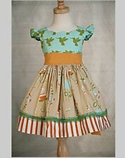 NWT Persnickety Farmer's Market TEA PARTY Hummingbird Flower Flutter Dress 2 2T