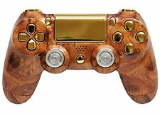 Hard Wood/Gold Ps4  Custom UN-Modded Controller