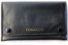 Real Leather Black Soft Tobacco Pouch